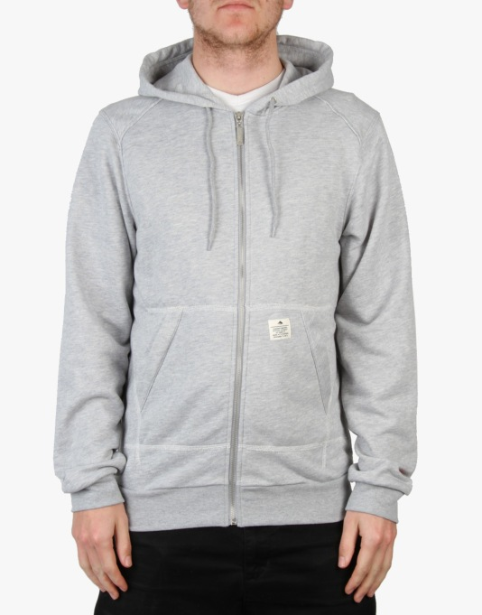 Emerica Burress Zip Hood - Grey/ Heather