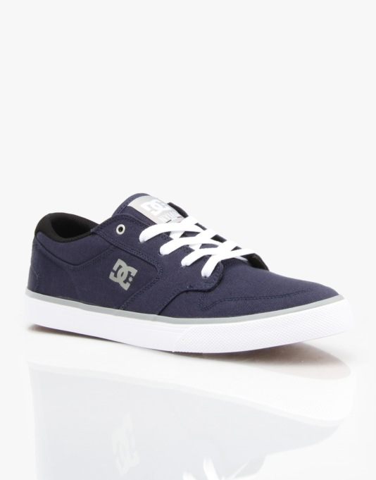 DC Nyjah Vulc TX Skate Shoes - Navy/Grey