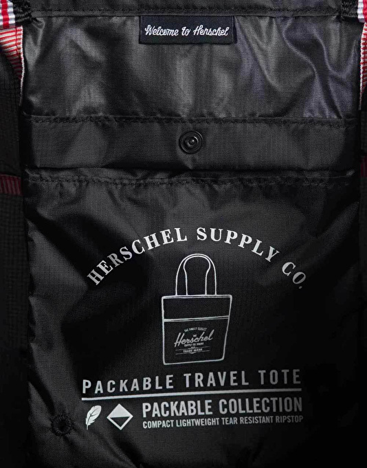 Herschel Supply Co. Packable Travel Tote - Black/Navy/Red