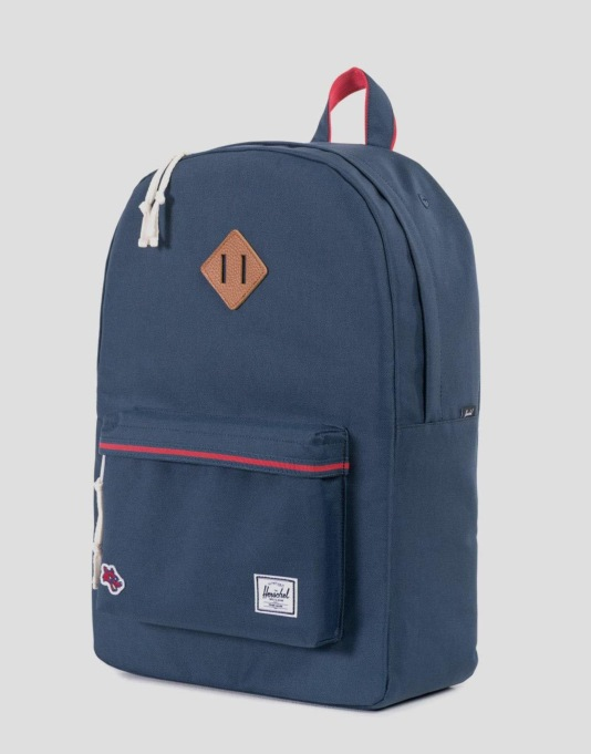 Herschel Supply Co. Hounds Collection Heritage Backpack - Navy/Red