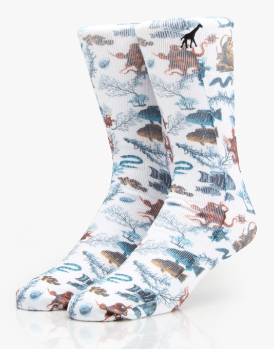 LRG Underwater High Socks - Off White
