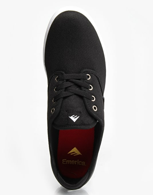Emerica Wino Cruiser LT Skate Shoes - Black/White