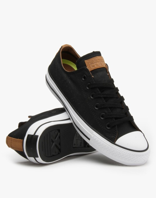 Converse Cons CTAS Pro Skate Shoes - Black/Rubber/Black
