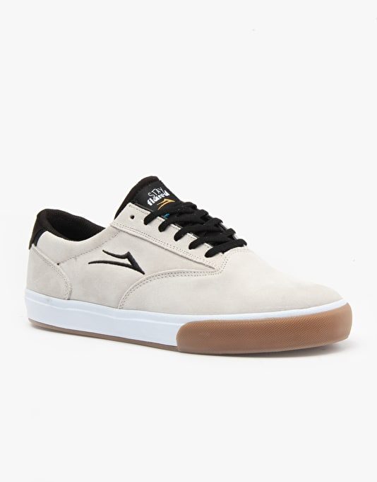 Lakai x Emerica Guymar Skate Shoes - White/Gum Suede