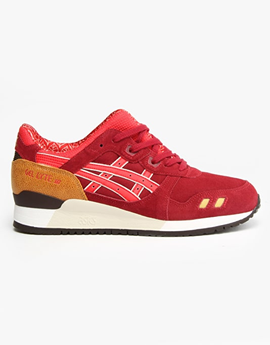 Asics Gel-Lyte III Shoes - Burgundy/Fiery Red