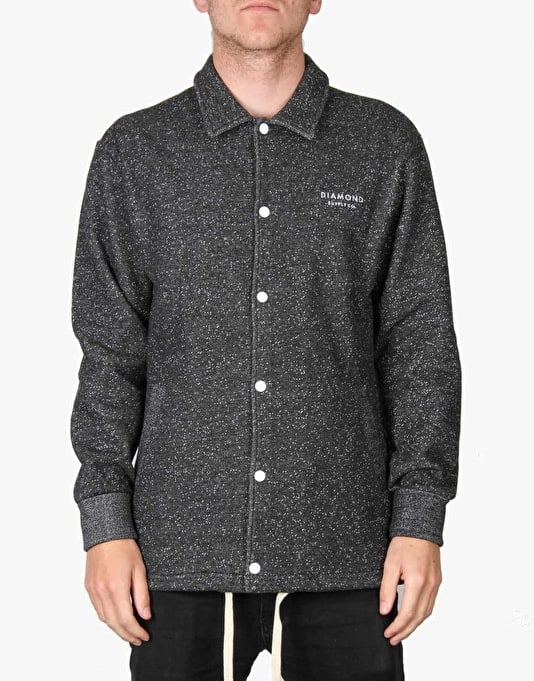 Diamond Supply Co. Stone Cut Fleece Coach Jacket - Pepper