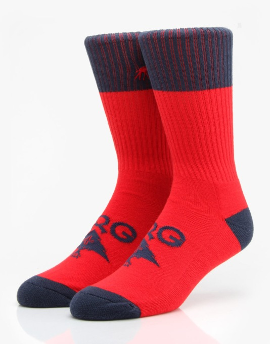 LRG Original Research Socks - Red/Navy