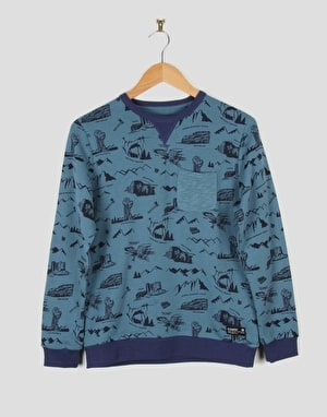 Element Footpath Boys Sweatshirt - Ocean