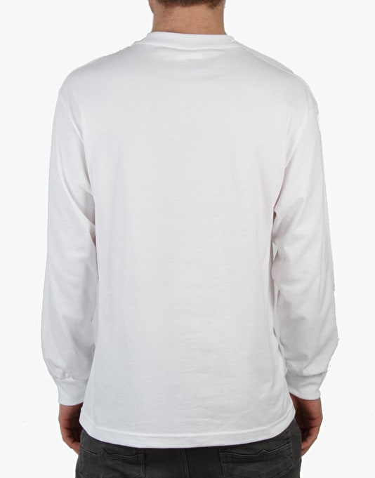 Chocolate Floater Chunk L/S T-Shirt - White