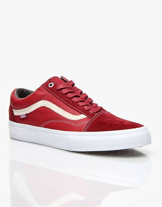 Vans Old Skool Pro Skate Shoes - Dark Red