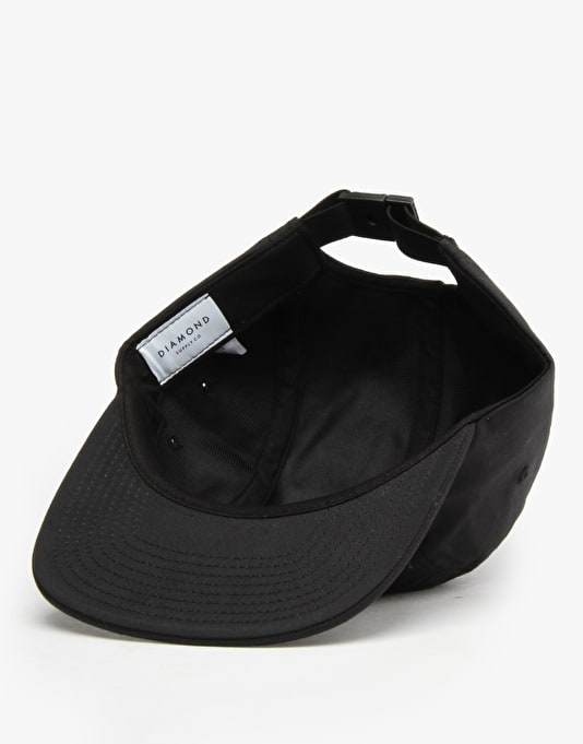 Diamond Supply Co. Stone Cut 5 Panel Cap - Black