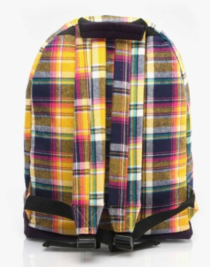 Mi-Pac Tartan Backpack - Navy