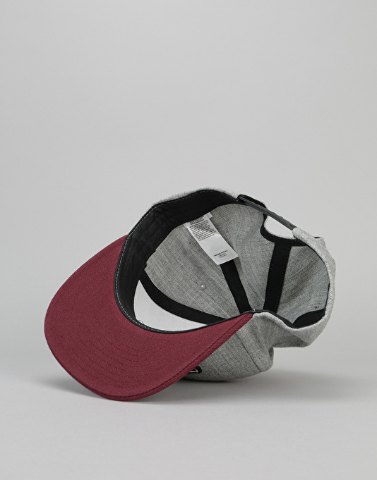 Vans Classic Patch Snapback Cap - Heather Grey/Port
