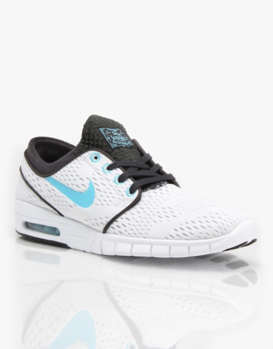 Nike SB Stefan Janoski Max Shoes - White/Clearwater/Anthracite/Black