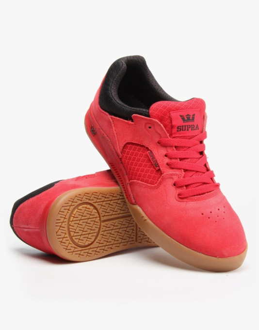 Supra Avex Skate Shoes - Red/Black/Gum