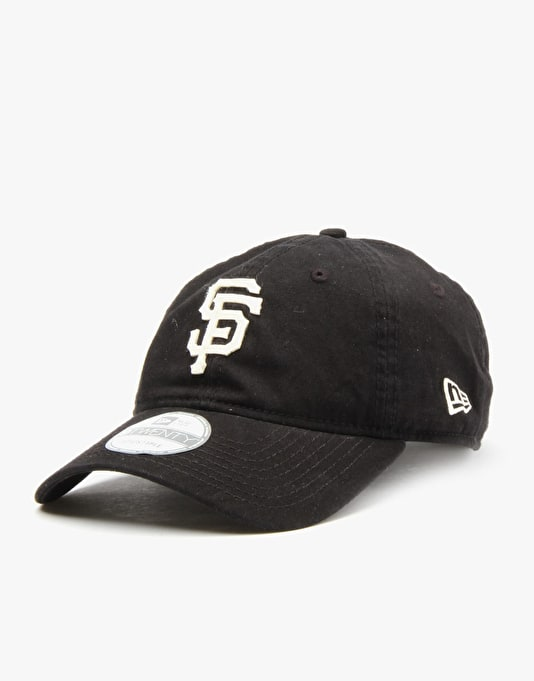 New Era MLB San Francisco Giants Felt Classic Snapback Cap - Black
