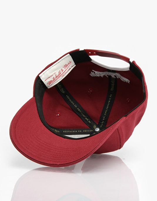 Mitchell & Ness Montreal Maroons Felt Slouch Snapback Cap - Burgundy
