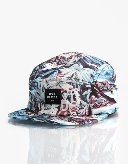 Globe Montague 5 Panel Cap - Blue