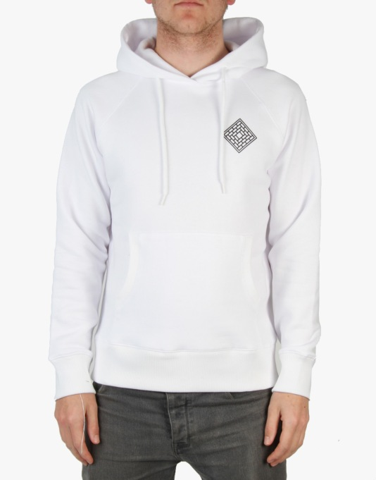 The National Skateboard Co. Mono Pullover Hoodie - White