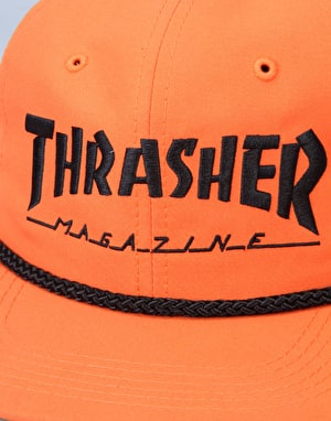 Thrasher Rope Snapback Cap - Orange/Black
