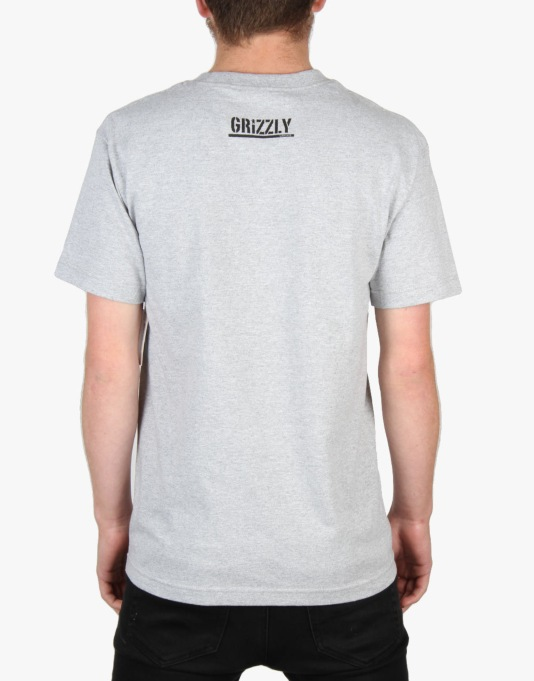 Grizzly OG Yosemite Bear T-Shirt - Heather Grey