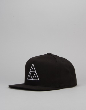 HUF Triple Triangle Snapback Cap - Black