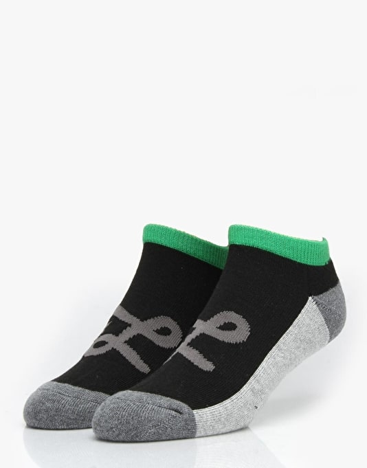 LRG Core Collection Two No Show Socks - Black