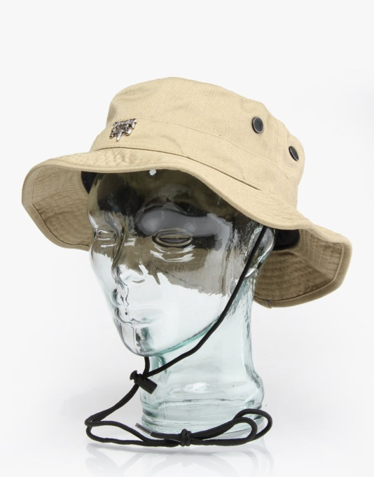 Thrasher Skategoat Boonie Bucket Hat - Tan