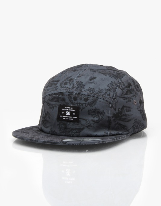 DC Broper 5 Panel Cap - Black