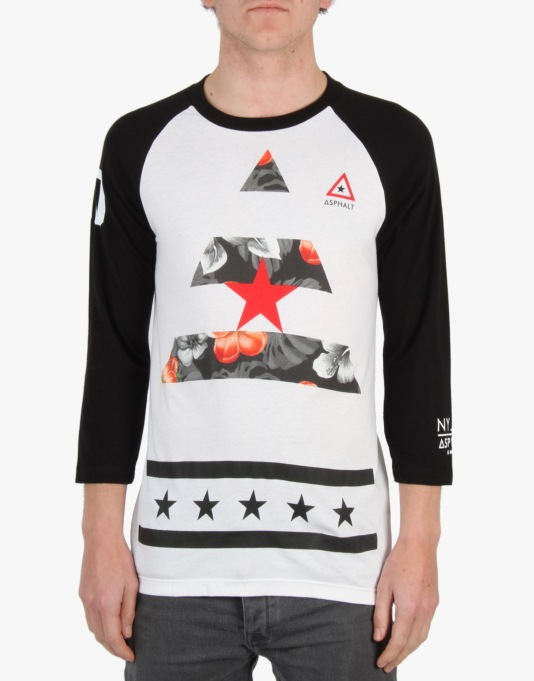 Asphalt Yacht Club R1 Excl Nyjah Diamonds In Paradise Raglan - White
