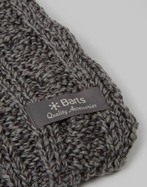 Barts Twister Scarf - Heather Grey