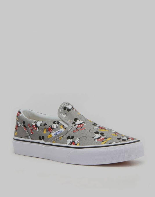 Vans x Disney Classic Slip-On Boys Skate Shoes - Mickey Mouse/Frost