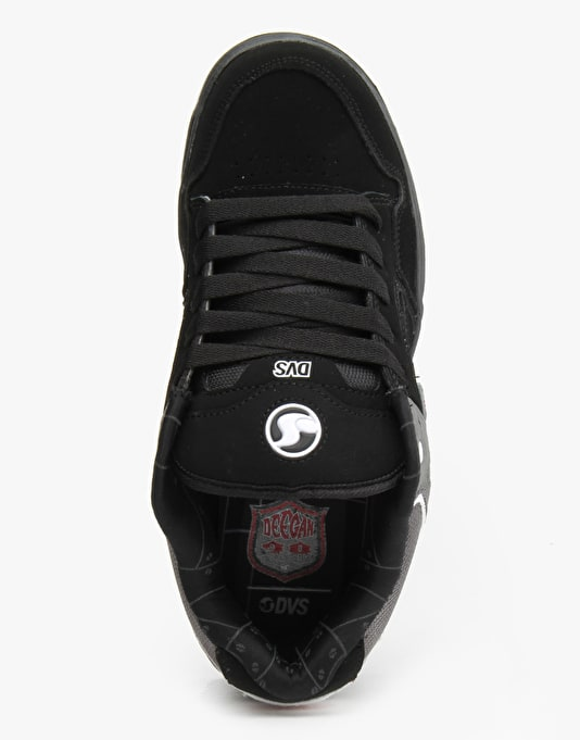 DVS Enduro Heir Skate Shoes - Black/White Nubuck