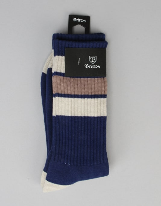 Brixton Elmore Socks - Navy/Cream