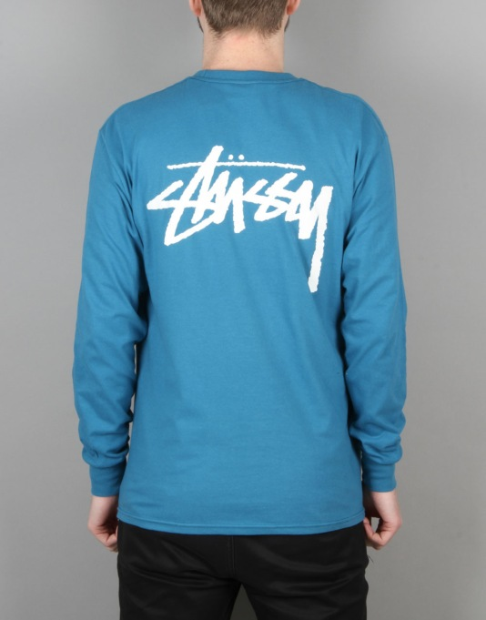 Stüssy Original Stock L/S T-Shirt - Blue
