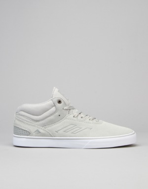 half off cced5 89203 Emerica Westgate Mid Vulc Skate Shoes - Grey White