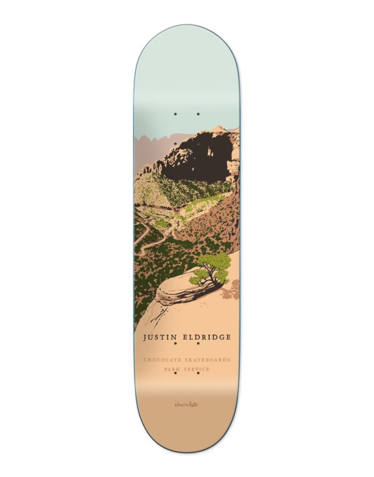 Chocolate Eldridge Park Service Pro Deck - 8""