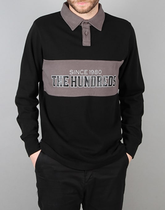 The Hundreds Eternal Long Sleeve Rugby Shirt - Black