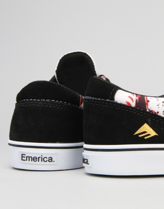 Emerica x Mouse The Provost Slim Vulc Skate Shoes - White/Gum