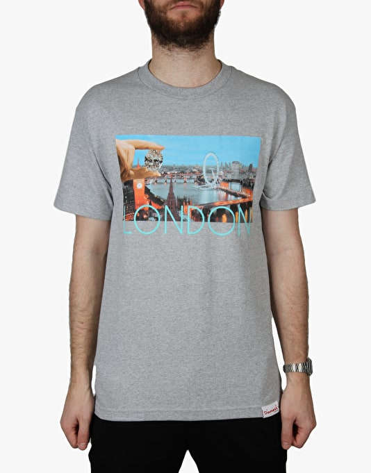 Diamond Supply Co. London Life T-Shirt - Grey