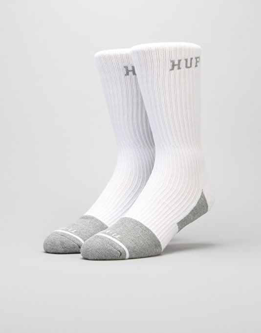 HUF Apex Performance Socks - White