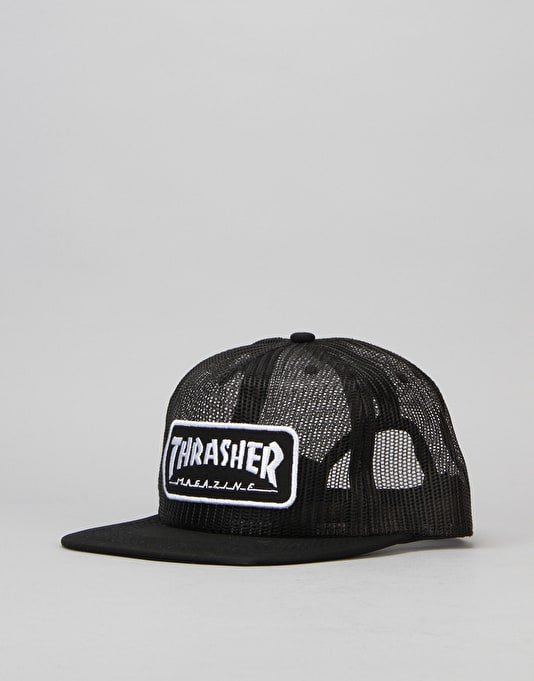 Thrasher Mesh Logo Cap - Black/White