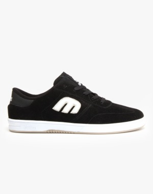 Etnies Lo-Cut Skate Shoes - Black/White