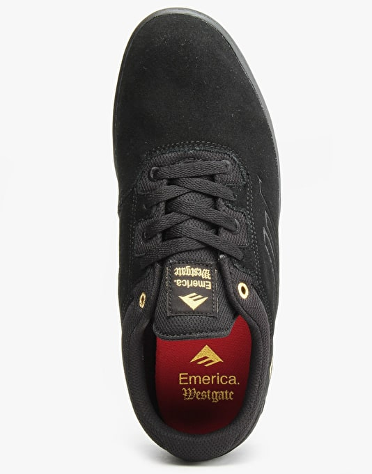 Emerica The Westgate CC Skate Shoes - Black/Black/Gum