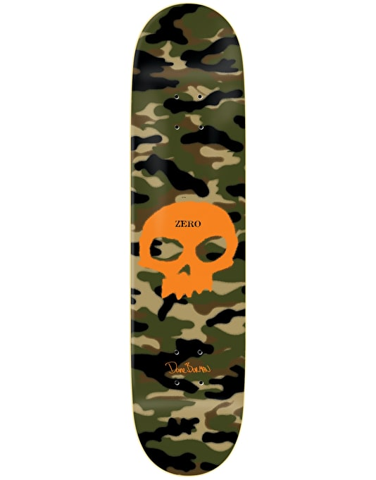Zero Burman Camo Single Skull Impact Light Pro Deck - 8.5""