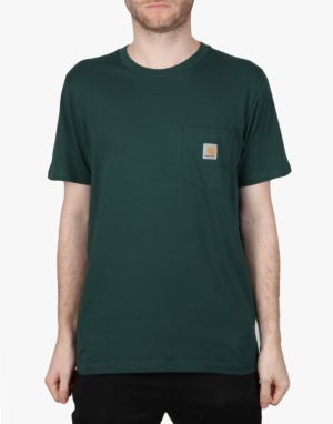 Carhartt S/S Pocket T-Shirt - Bottle Green