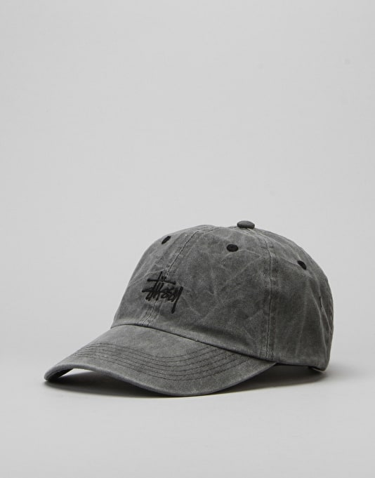 Stüssy Smooth Stock Enzyme Wash Cap - Black