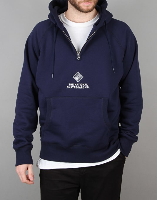 The National Skateboard Co. Half Zip Pullover Hoodie - Navy