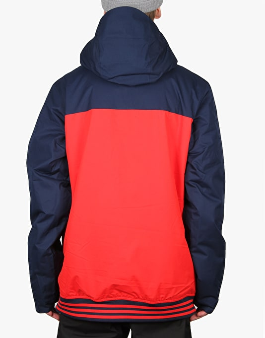 Adidas Greeley Insulated 2016 Snowboard Jacket - Collegiate Navy/Red