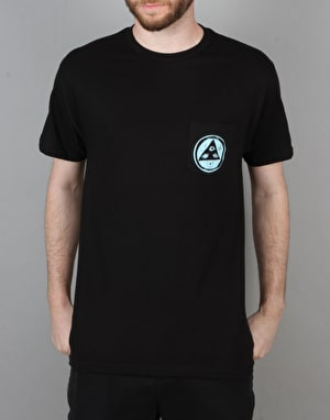 Welcome Crinker Pocket T-Shirt - Black/Blue